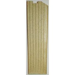 Plaque foyere droit vermiculite Globo Lyra Odette Chrissie Jollymec