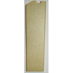 Plaque foyere droit vermiculite Globo Lyra Odette Chrissie Jollymec vue arrière