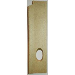 plaque vermiculite cote droit Jollymec Idea 2 frontal angolo vue arrière