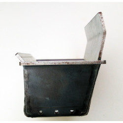 Creuset cendrier poêle sicalor - Vue de coté